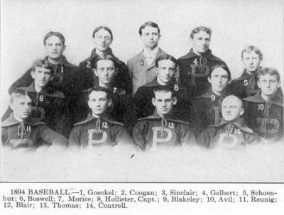 University baseball team, 1894