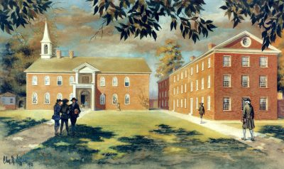 Penn's first campus, 1749-1801, at Fourth and Arch Streets