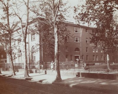 Medical Hall on Ninth Street campus, 1872