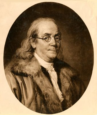 Benjamin Franklin, portrait painting, c. 1780