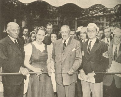University of Pennsylvania Bicentennial, ribbon cutting for opening of University Guide Service, 1940