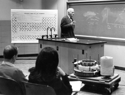 Gaylord Probasco Harnwell teaching chemistry, 1968