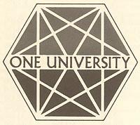 One University logo, Martin Meyerson administration, 1975