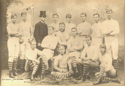 University baseball team, 1879