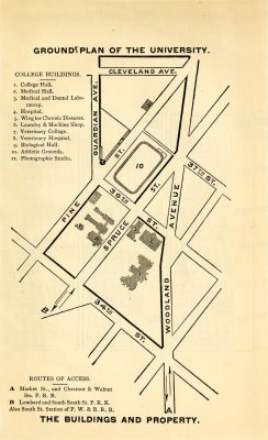University of Pennsylvania campus map, 1885