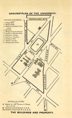 University of Pennsylvania campus map, 1885