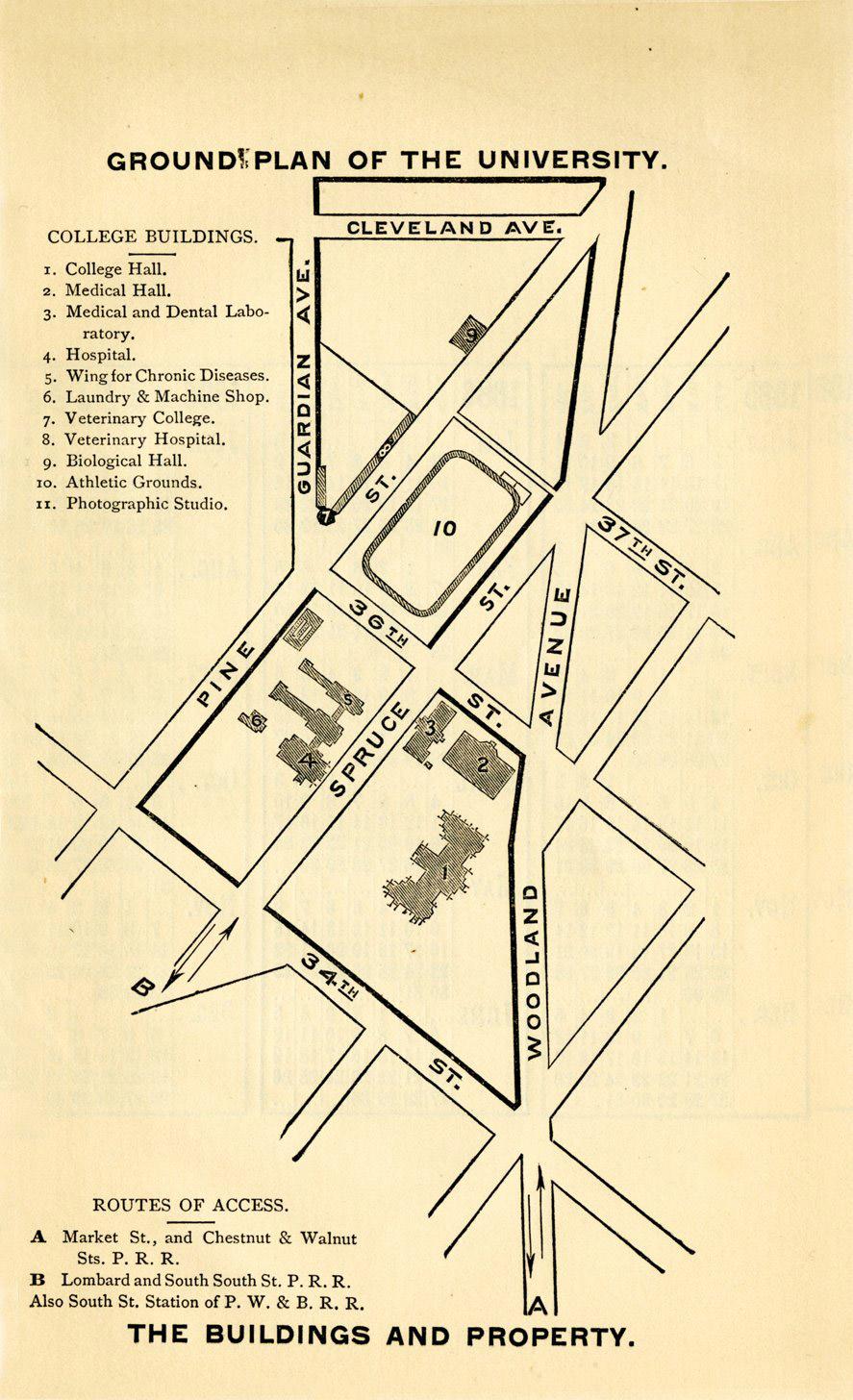 University Of St Thomas Houston Campus Map.Penn Campuses Before 1900 West Philadelphia Campus University