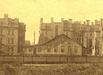 Dining Hall (demolished 1895), c. 1891