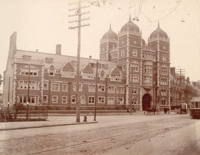 Dormitory Quadrangles, Memorial Tower, c. 1901