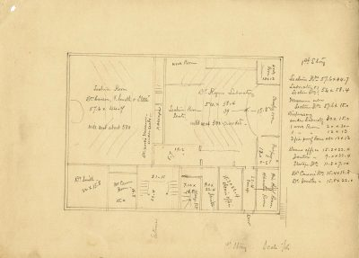 Medical Hall, Ninth Street, plan of first floor, c. 1876