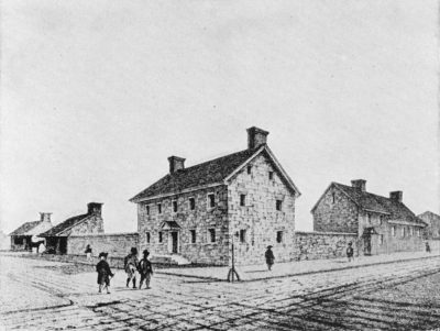 Old Jail, Third and Market Streets, where Provost William Smith taught his classes in 1758