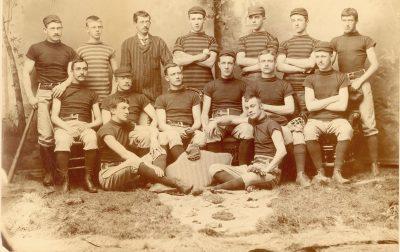 University baseball team, 1887
