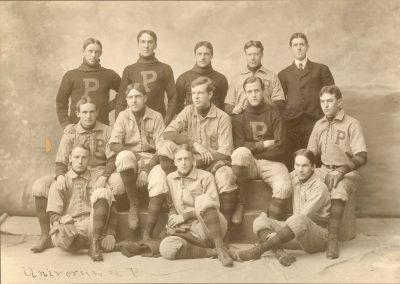 University baseball team, 1899