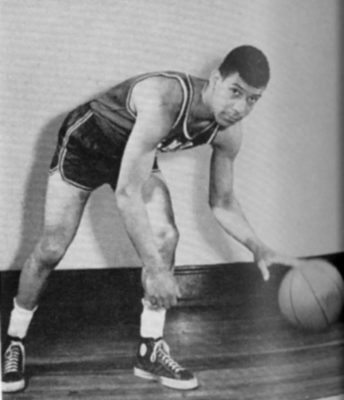 Guy Rogers, member of Temple University basketball team, 1955-1956