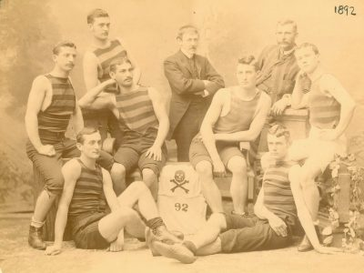 Men's crew, possibly Medical School team, 1892