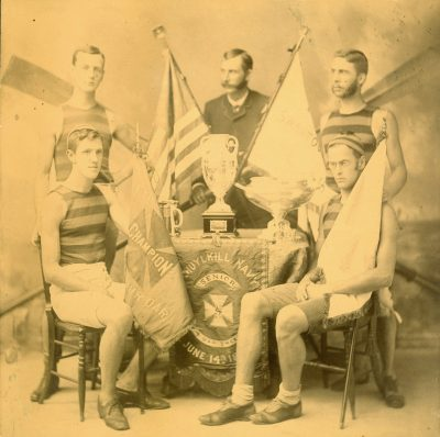 Men's crew, senior four-oar shell, 1884