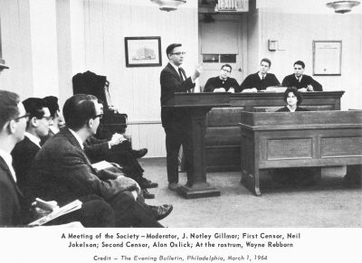 Philomathean Society meeting, 1964