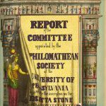 Report of the Committee Appointed by the Philomathean Society of the University of Pennsylvania to Translate the Inscription on the Rosetta Stone, cover, 1858