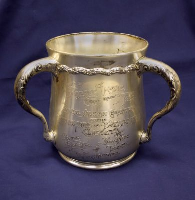 Athletic trophy, Dean's Cup for freshman vs. sophomore competition in rowing, baseball, football, tennis and track, 1897