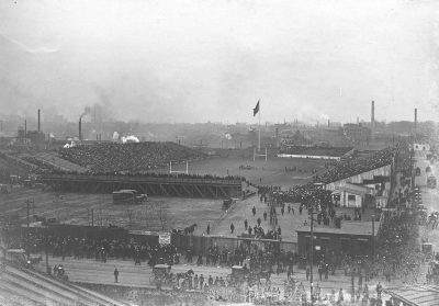 Franklin Field (as built in 1894), Penn vs. Harvard football game, 1902