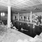 Houston Hall pool, c. 1900