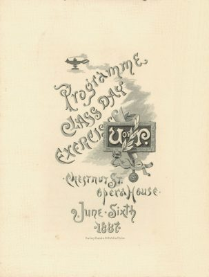 Class Day Program, 1887