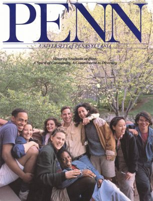 """Minority students at Penn,"" brochure cover, 1989"