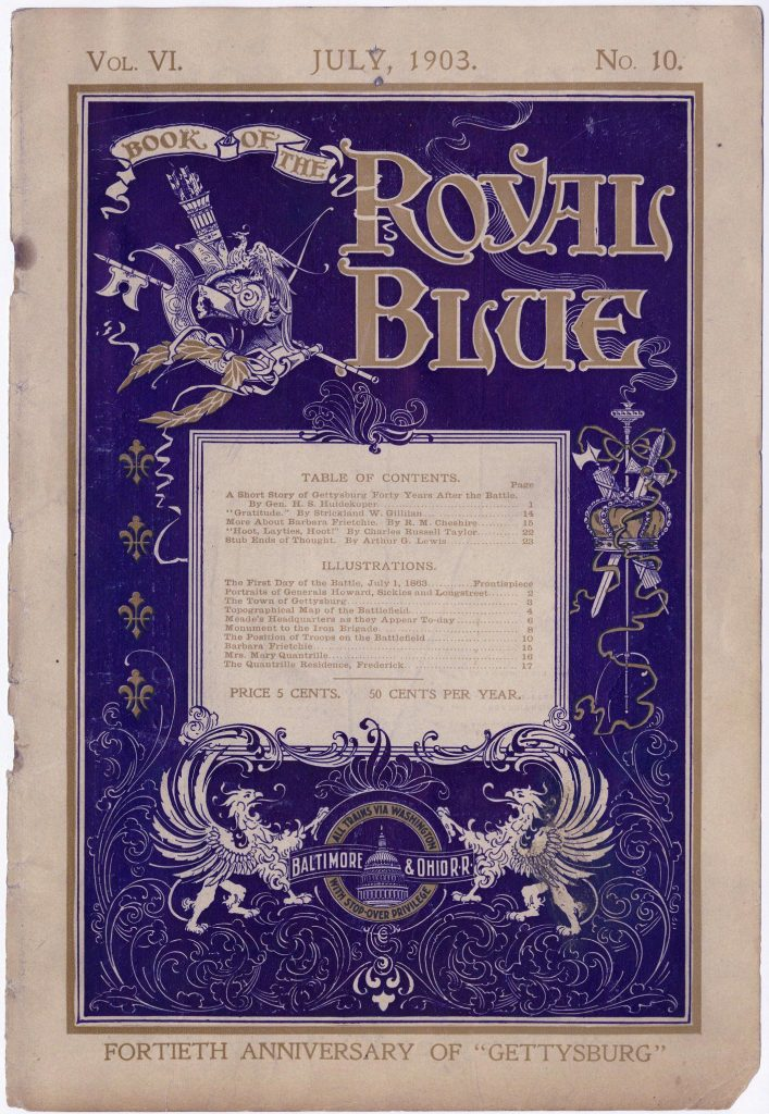 Battle of Gettysburg, 40th anniversary issue of the Book of the Royal Blue, July 1903