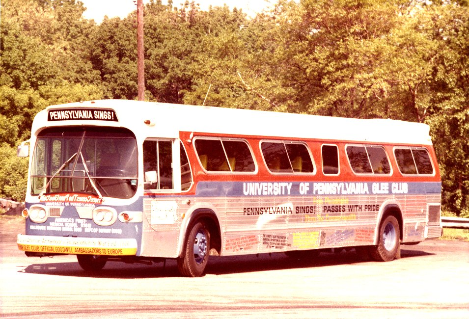 Glee Club tour bus, 1972