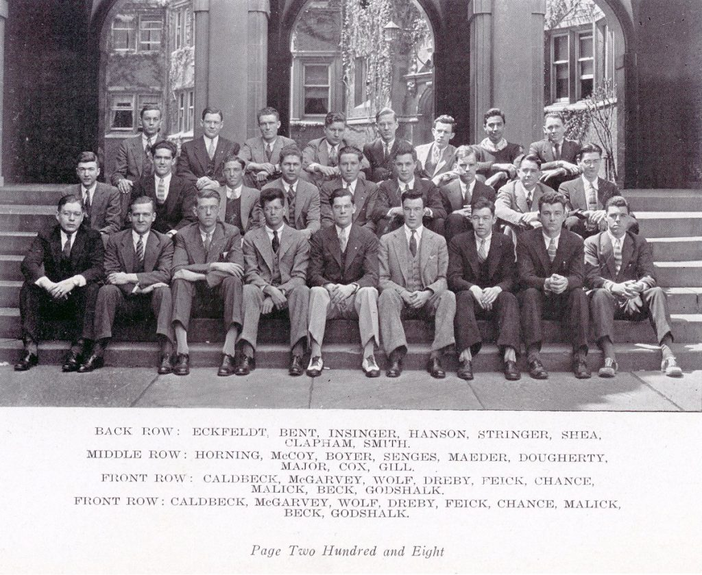 Alpha Chi Sigma honorary fraternity for students of chemistry and chemical engineering, 1935