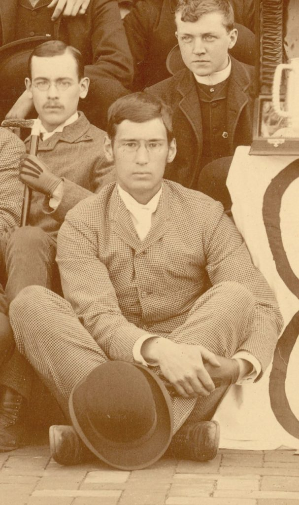 George Brinton, detail from Class of 1888 group photograph, 1888