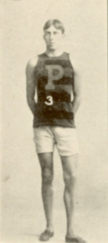 Irving Knott Baxter in Penn track and field uniform, 1900