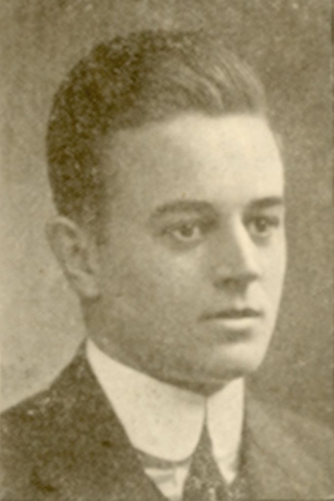 Jervis Watson Burdick, yearbook photo, 1912