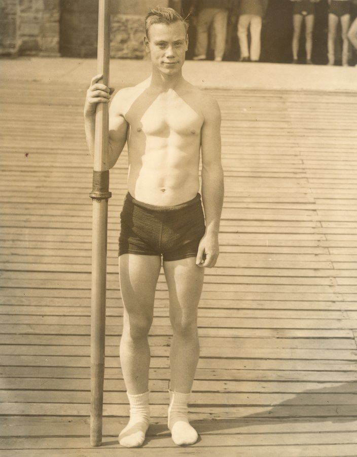 Joseph William Burk on Boat Hoase dock, 1934
