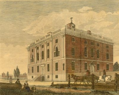 President's House, Penn's campus from 1801-1829, at Ninth and Market Streets