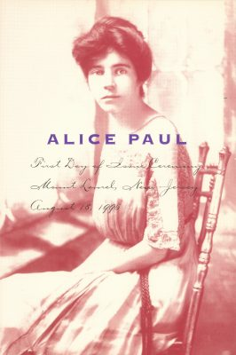 Alice Paul, cover of program for first day issue ceremony of her postage stamp, August 18, 1995