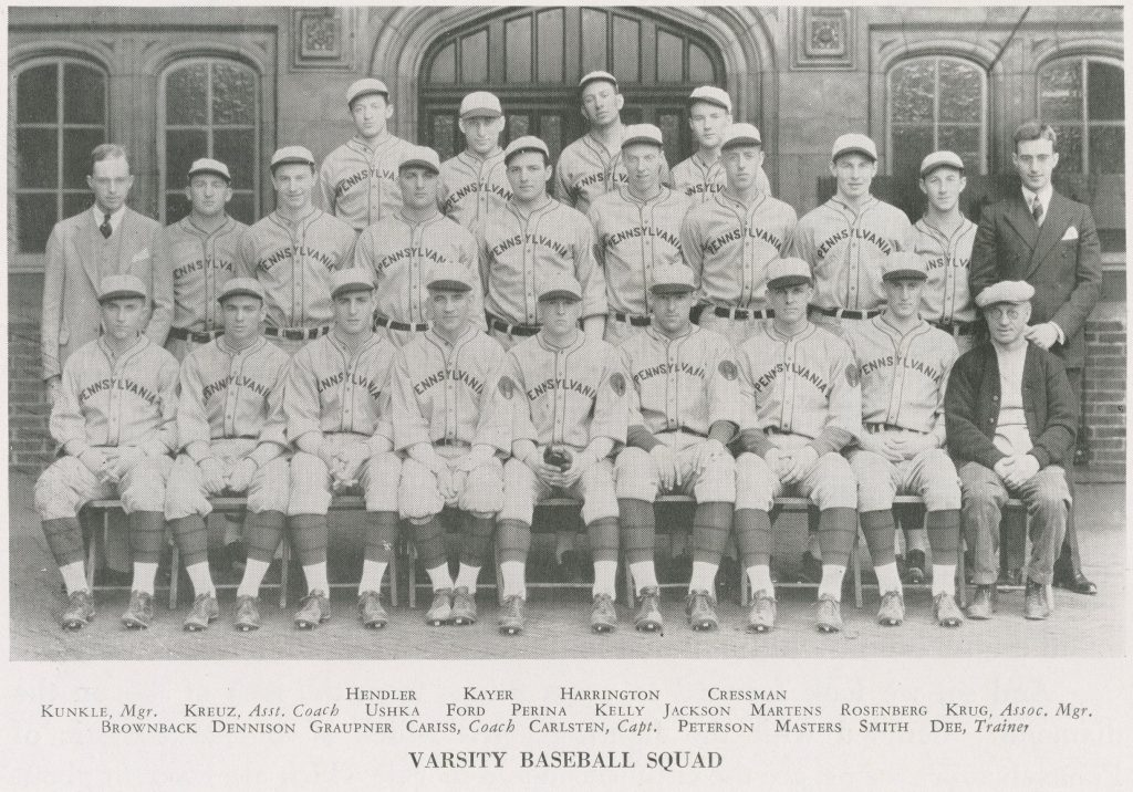 Varsity baseball team, 1931