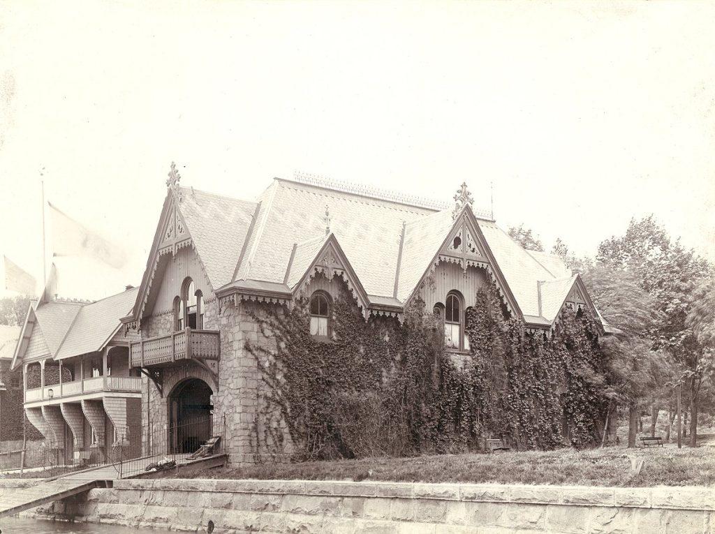 University of Pennsylvania boathouse (built 1876), c. 1915