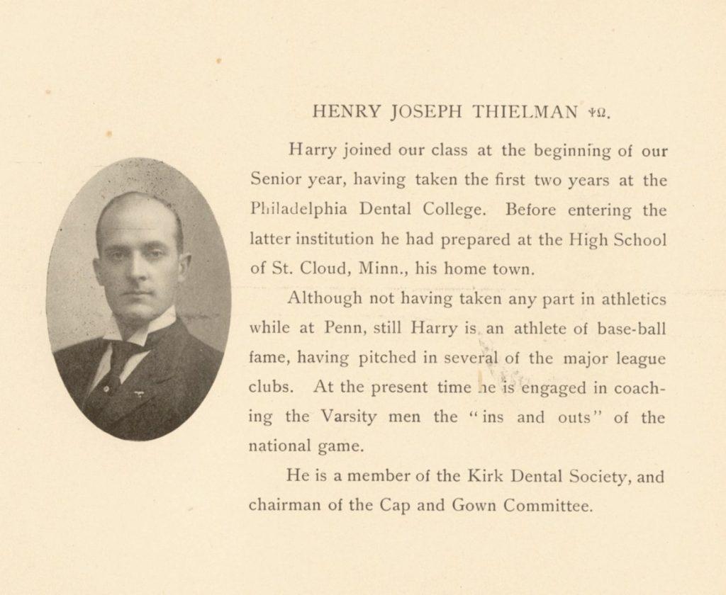 Henry Joseph Thielman, 1906