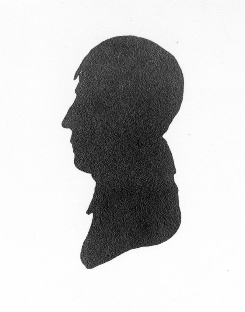 James Latta silhouette, c. 1790