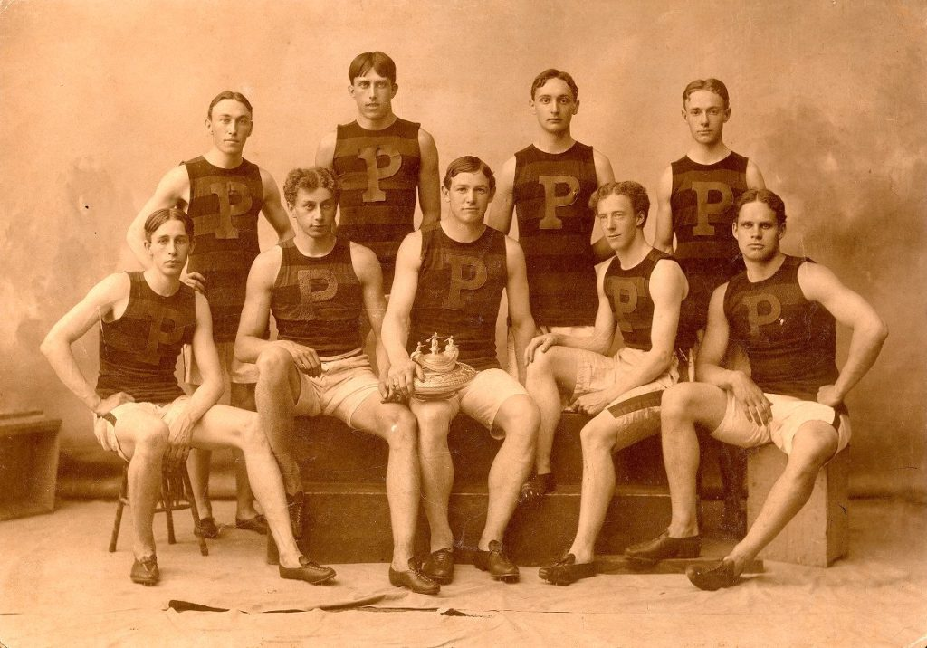 Men's track team, intercollegiate point winners, 1899