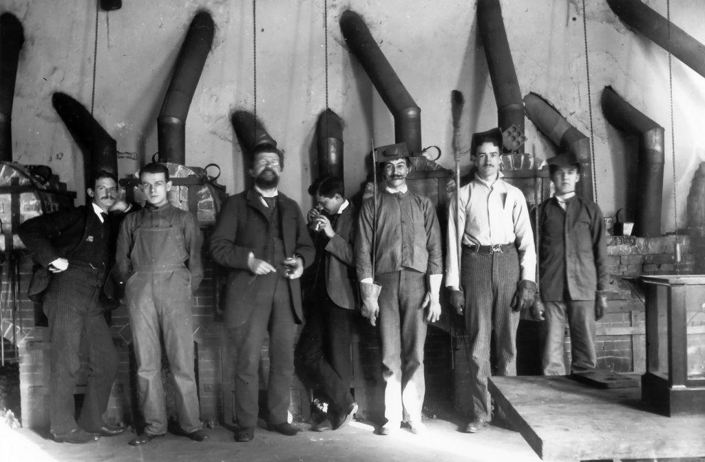 Towne Scientific School, metallurgical laboratory with Professor George Augustus Koenig, c. 1890