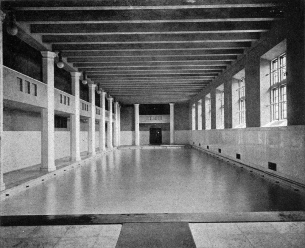 Weightman Hall pool, 1908