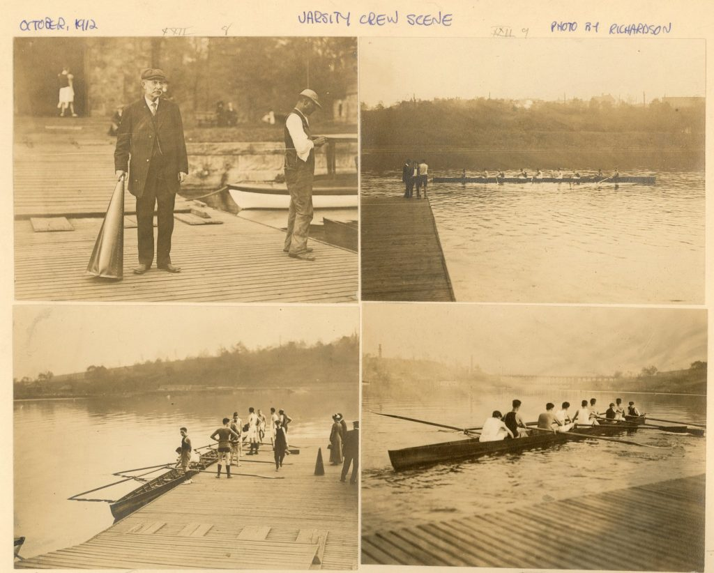 Crew team training at the Boat House, 1912