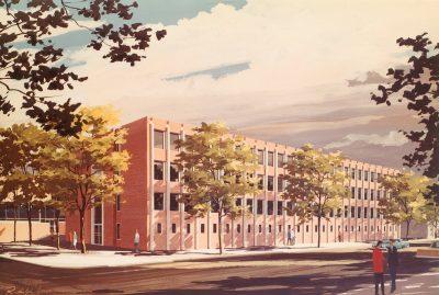 Graduate School of Education, rendering, c. 1962