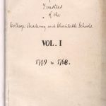 Trustees of the University of Pennsylvania Minute Books, volume 1, 1749-1768