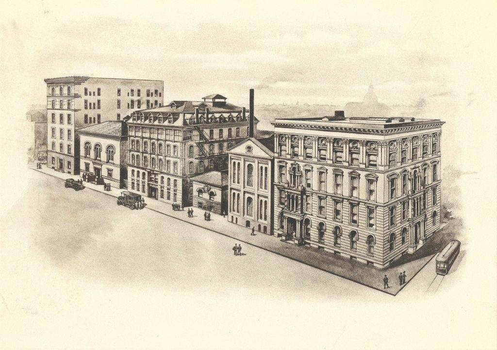 Medico-Chirurgical College and Hospital, drawing, c. 1915