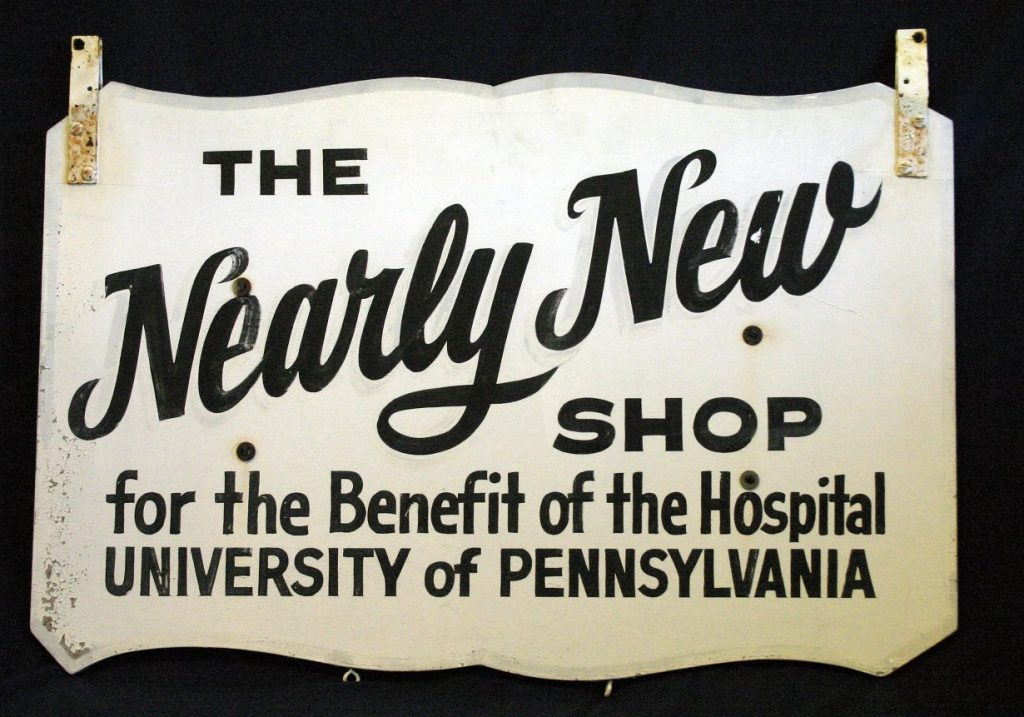 Nearly New Shop sign, c. 1960
