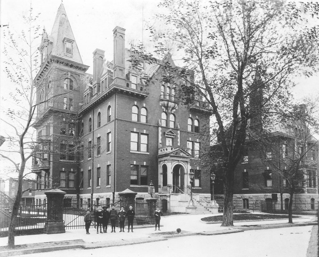 Presbyterian Hospital, administration building, c. 1920