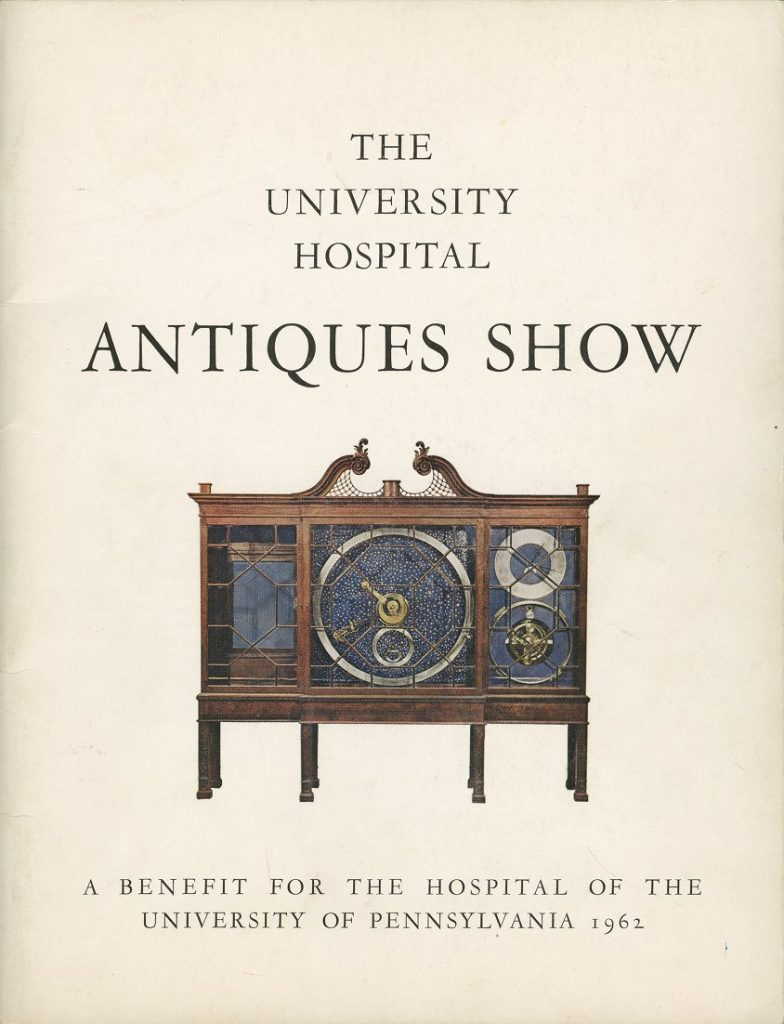 Program cover, first annual University Hospital Antiques Show, 1962